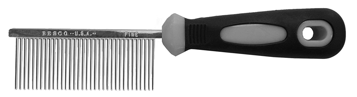 Resco Professional Anti-Static Best Cat Comb for Grooming, Fine Pin Spacing