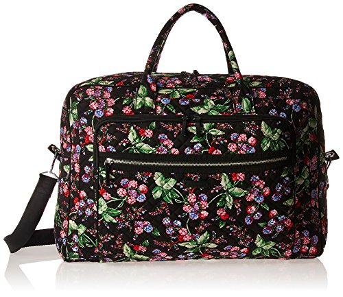 611PmdqgnjL - Vera Bradley Women's Iconic Grand Weekender Travel Bag-Signature