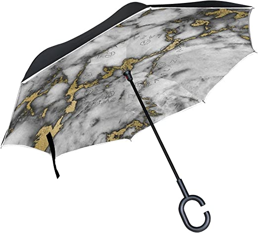 AHOMY Inverted Reverse Umbrella Mexican Pattern Vintage Windproof for Car Rain Outdoor