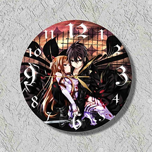 Anime - Sword Art Online 11.8'' Handmade Wall Clock - Get unique décor for home or office - Best gift ideas (Online Wall Clocks)