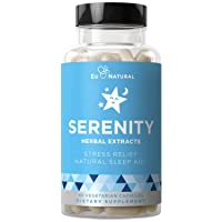 Serenity Natural Sleep Aid & Immune Support – Drift Off & Fall Asleep Without Being Groggy – Non-Habit Sleeping Pills, Sleep Aids For Adults, Sleep Vitamins – 60 Vegetarian Soft Capsule