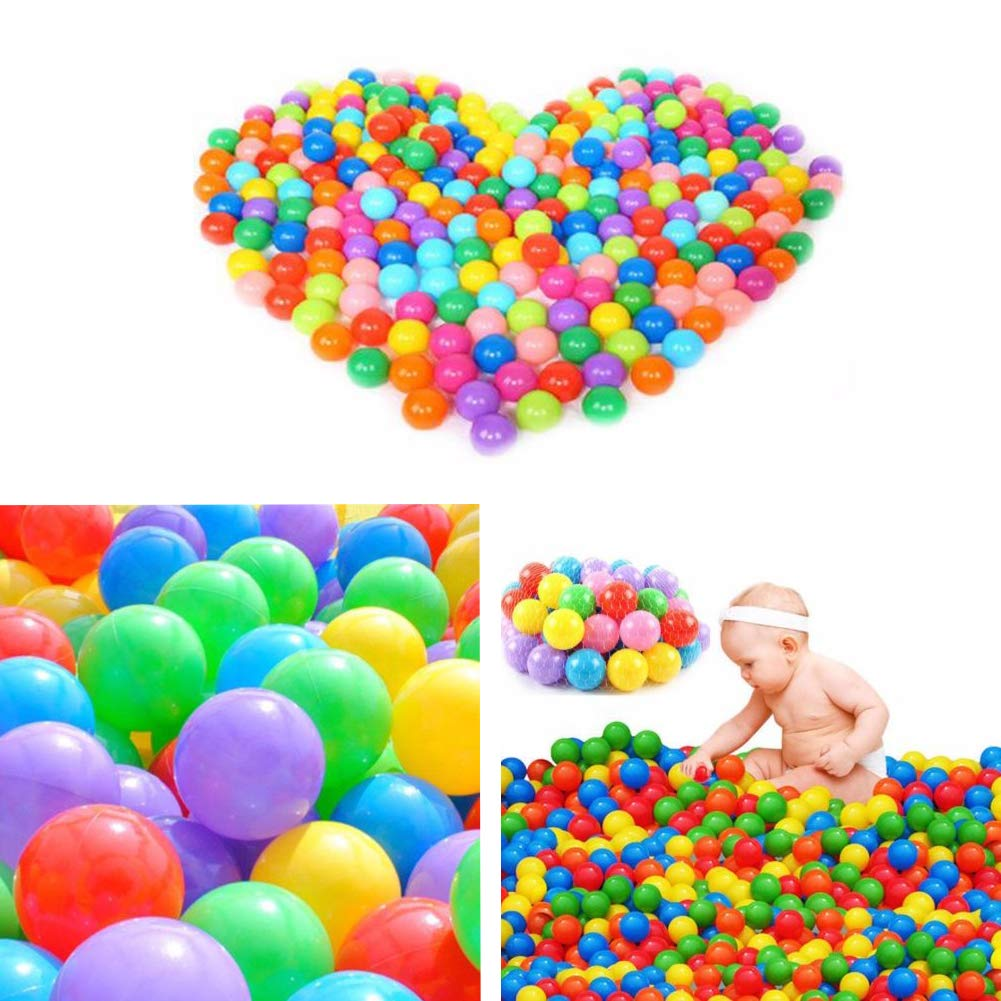 Binwwede Kids Ocean Ball 5 Colors Toddler Baby Ball Pit Pack of 100 Plastic Play Balls (20pcs) by Binwwede (Image #6)