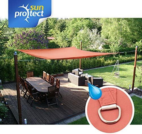 sunprotect 83258 Waterproof Toldo / Vela de Sombra, 3.5 x 4.5 m ...
