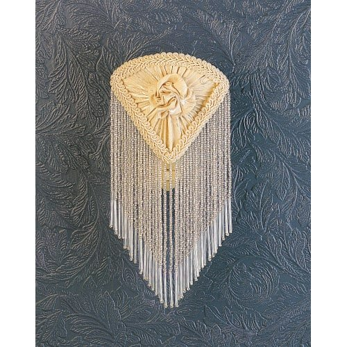 Meyda Tiffany 15107 Fabric & Fringe Pontiff Night Light, 5.5