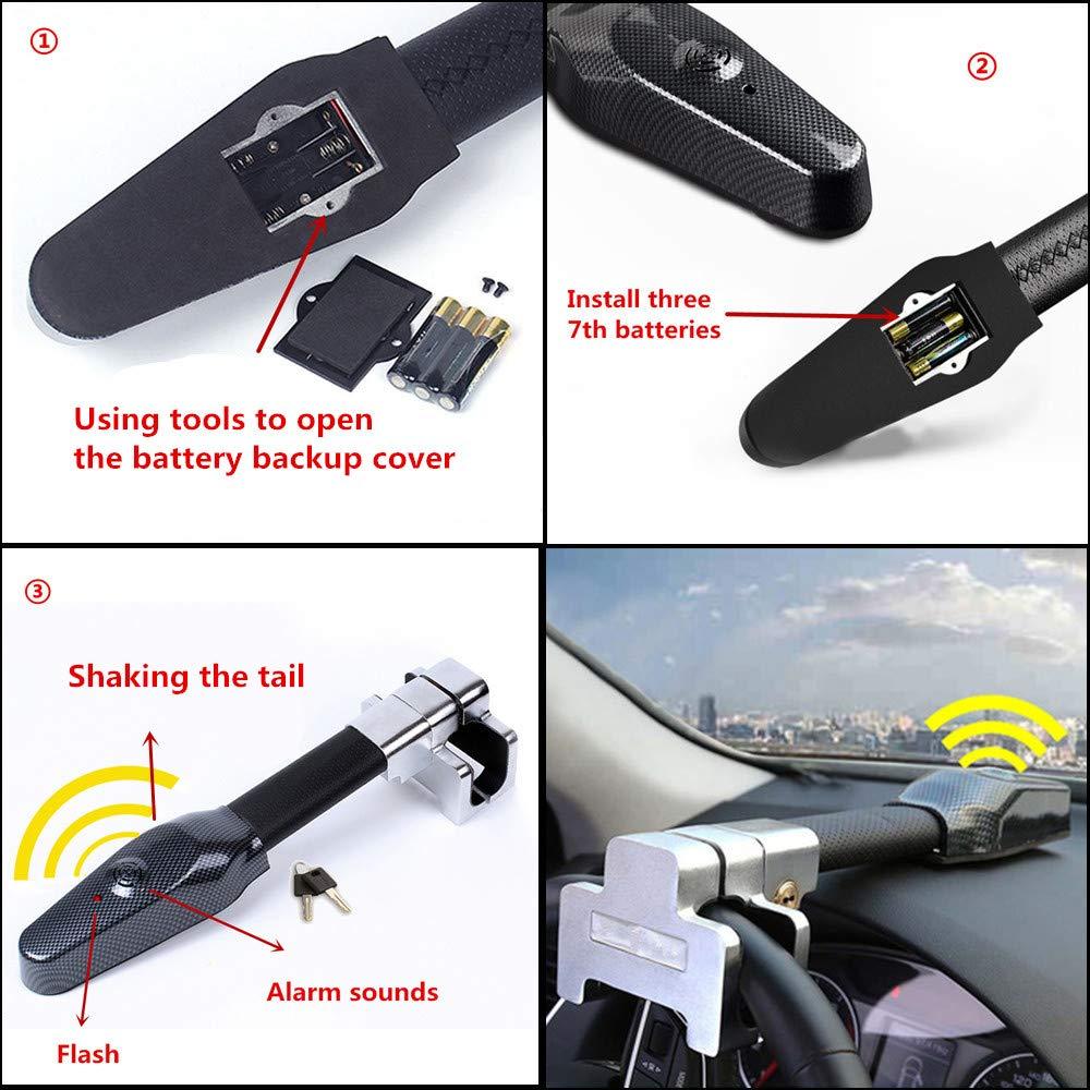Lenkradschloss Universal Sicherheit Auto Anti Diebstahl Sicherheits Alarm Verschluss Einziehbare lenkradkralle Schutz T-Lock
