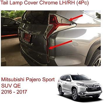 Fit Mitsubishi Montero Pajero Sport Chrome Cover Fog Spot Light Lamp 2016 2017