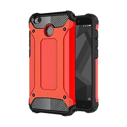 Xiaomi Redmi 4X Funda, cmdkd Pesada A Prueba de Choques a las Híbrido Duro Silicona Caucho Doble Capa Teléfono Caso Carcasa Para Xiaomi Redmi 4X ...
