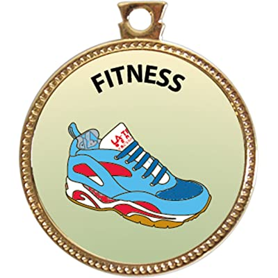 Keepsake Awards Fitness Award, 1 inch Dia Gold Medal Personal Skills Collection: Toys & Games