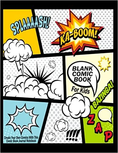 blank comic book for kids create your own comics with this comic book journal notebook over 100 pages large big 85 x 11 cartoon comic book with lots