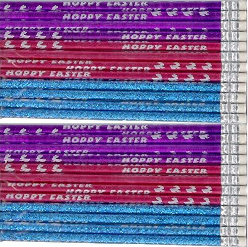 BIG CITY BARGAINS 24 Happy Easter Pencils - Hoppy Easter