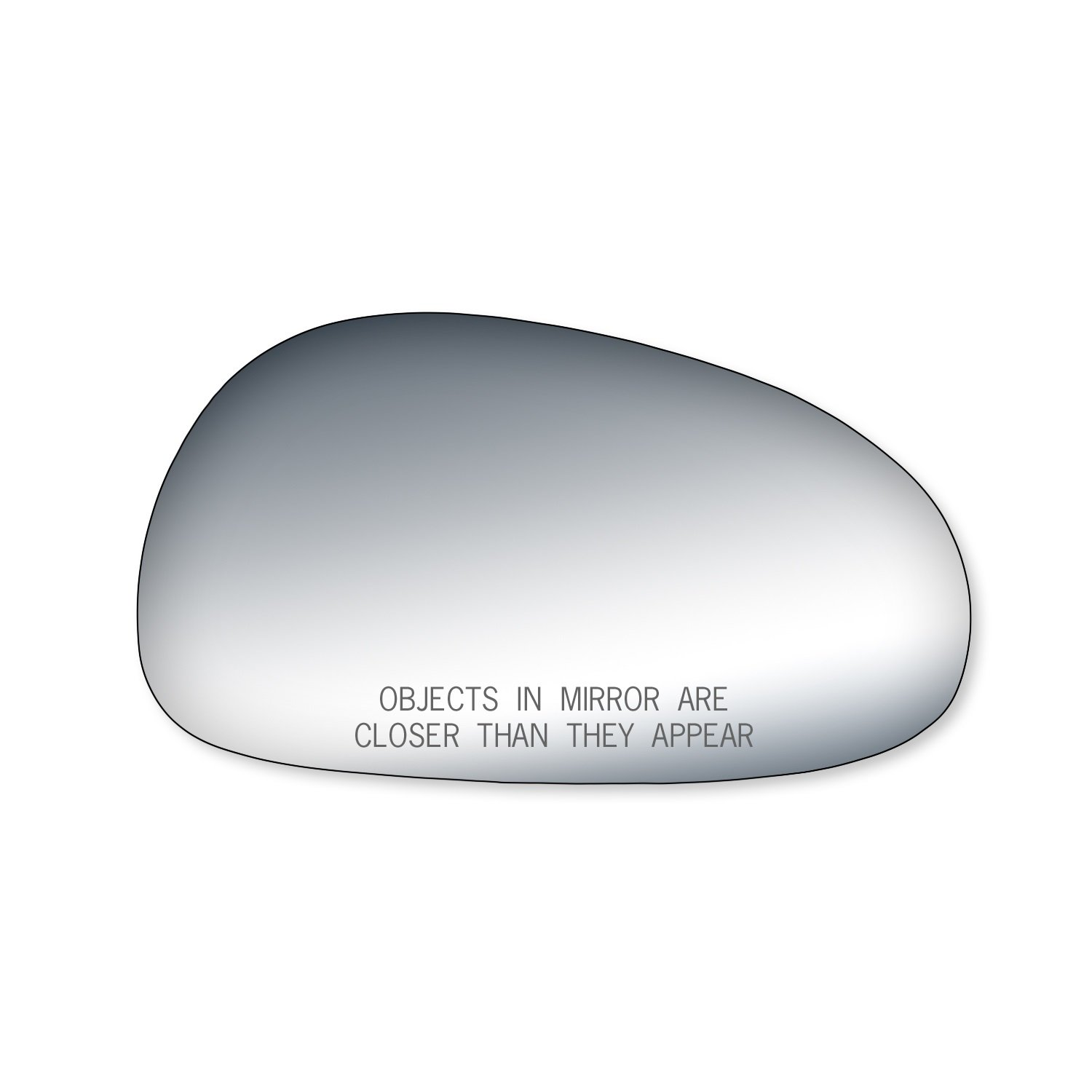 Fit System 90043 Ford Mustang Passenger Side Replacement Mirror Glass