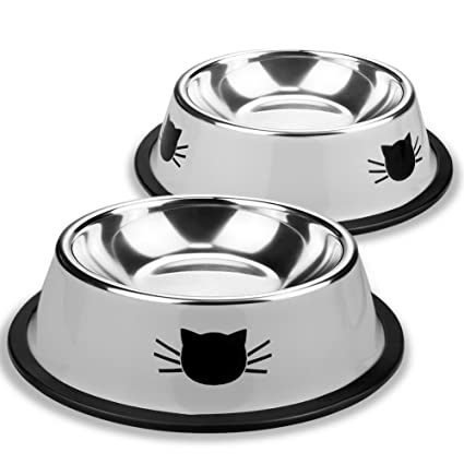 pet supplies eagmak pet dog bowl stainless steel cute puppy cat
