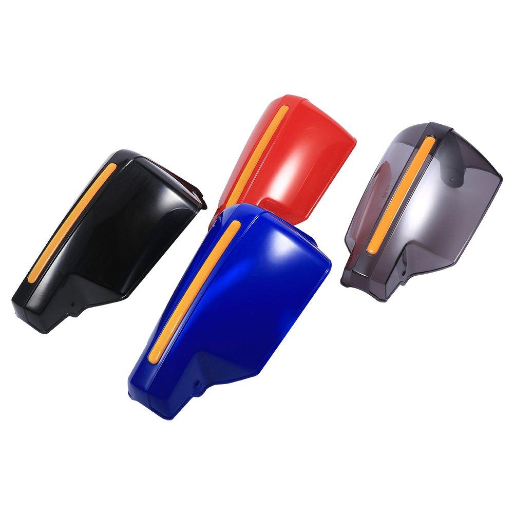 smoke-transparent 1/paio universale moto Paramani Paramani vento freddo protezione antivento deflettori , Keenso 7//20,3/cm manubrio Paramani manico anti-vento Protector Bike Brush