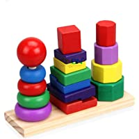 ONBN® 3 in 1 Stacking Kids Toys, Wooden Eco Friendly Innovative Toys for Kids ,Kids Learning Toys Gift Toys for Girls and Boys | Toys for 2,3,4,5,6,7+ Year Old Boys and Girl (3 in 1 Stacking Toys)