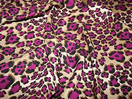 Magenta Plum Animal Print 100% Viscose Dress Fabric - per metre  Amazon.co. uk  Kitchen   Home 4511882f6