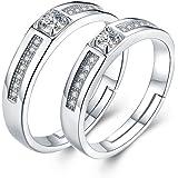 JUDYの秘密<愛の言葉>ペアリング 指輪2個セット 格好いい シルバー925純銀製 結婚 婚約指輪 メンズレディースリング