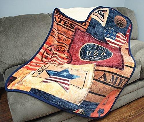 Mink Emotions - USA American Design Luxury Sherpa Throw Blanket - Air Force Memorabilia