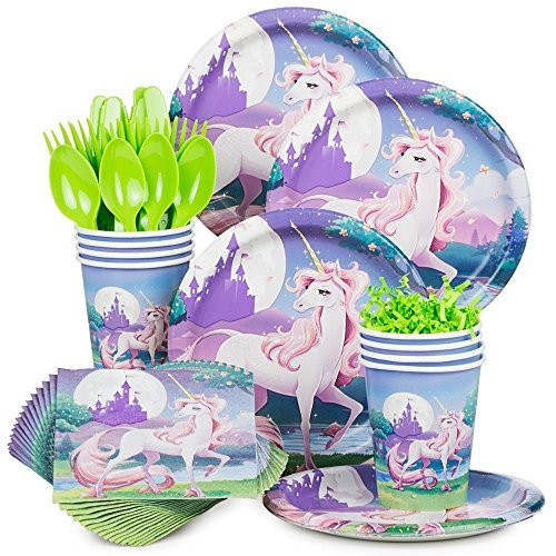 Unicorn Fantasy Birthday Party Standard Tableware ()