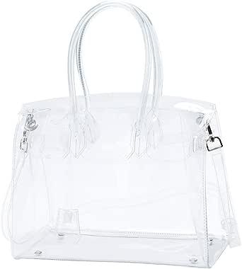 Torostra Fashion Clear PVC Purse Bags for Womens See Through Plastic Bag for Working Waterprof Transparent Handbags
