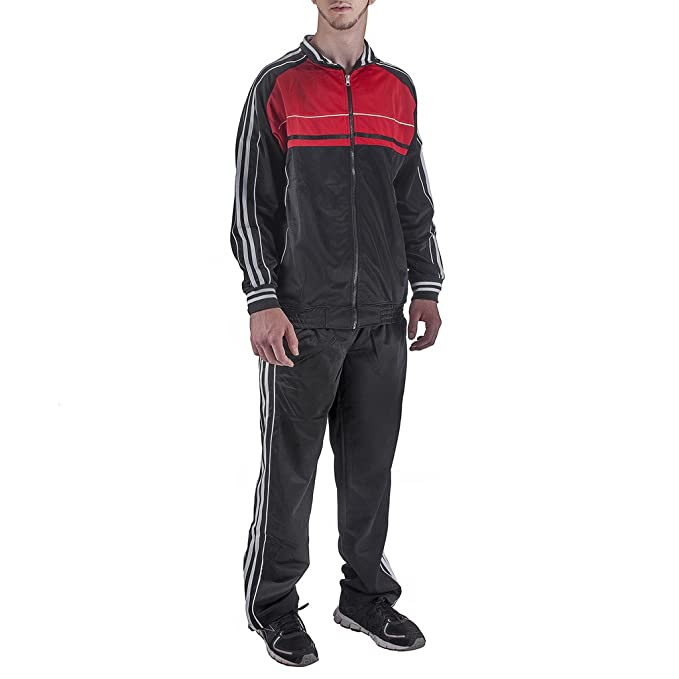 newest exquisite style sold worldwide Amazon.com: North Pole Men's Jogging Nylon Athletic Full Zip ...