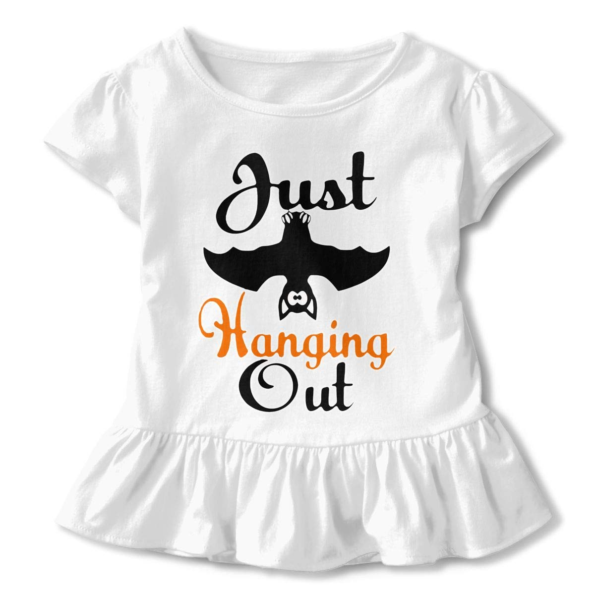 Halloween Just Hanging Out Baby Skirts Stylish Kids T Shirt Dress Short Sleeve Flounces Outfits