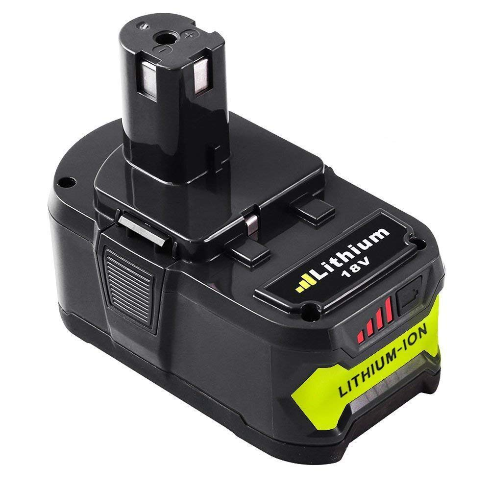 P108 4.0Ah Replace for Ryobi 18V Lithium ion Battery 18 Volt One Plus P102 P103 P104 P105 P107 P109 Cordless Tool with LED Indicator