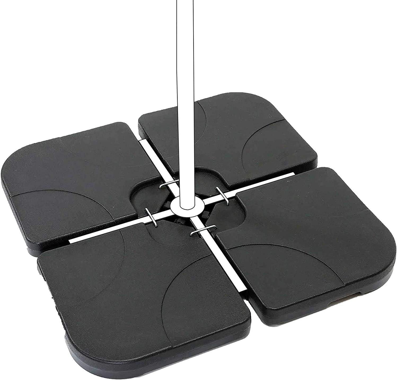 Aktive 62196 - Soporte parasol rellenable cuadrado 4 piezas Garden