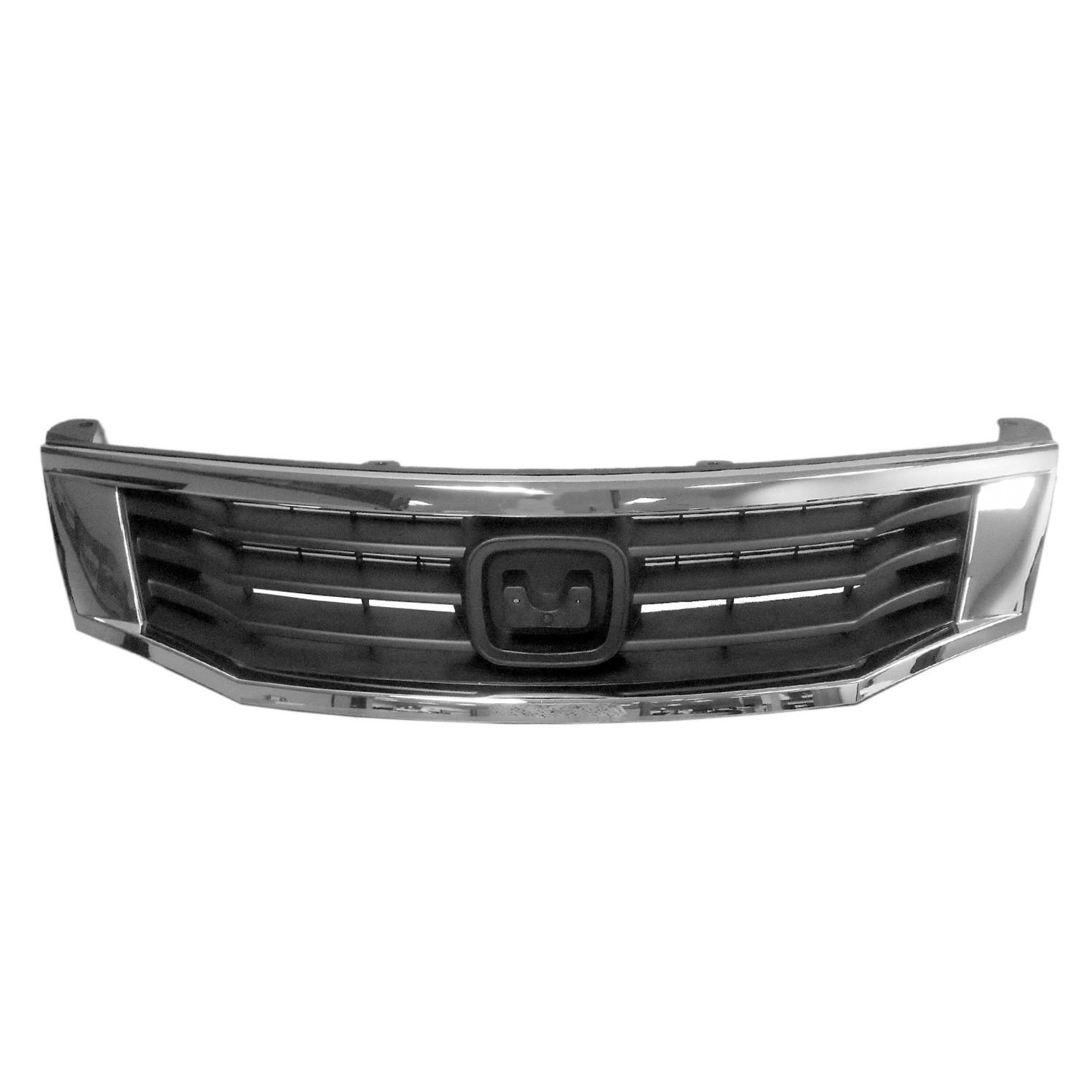 New Front Grille And Frame For 2008-2010 Honda Accord Sedan Black With Chrome Frame HO1200222 615343080178