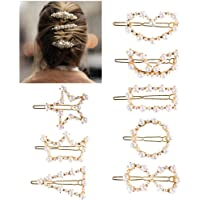 Pearl Hairpins for Girls, Womdee Pearl Hair Clips for Ladies Women Decorative Fashion Hairpins Accessories Elegant Pearl Barrettes for Party Wedding Wrapped Hairpins for Thick Thin Hair