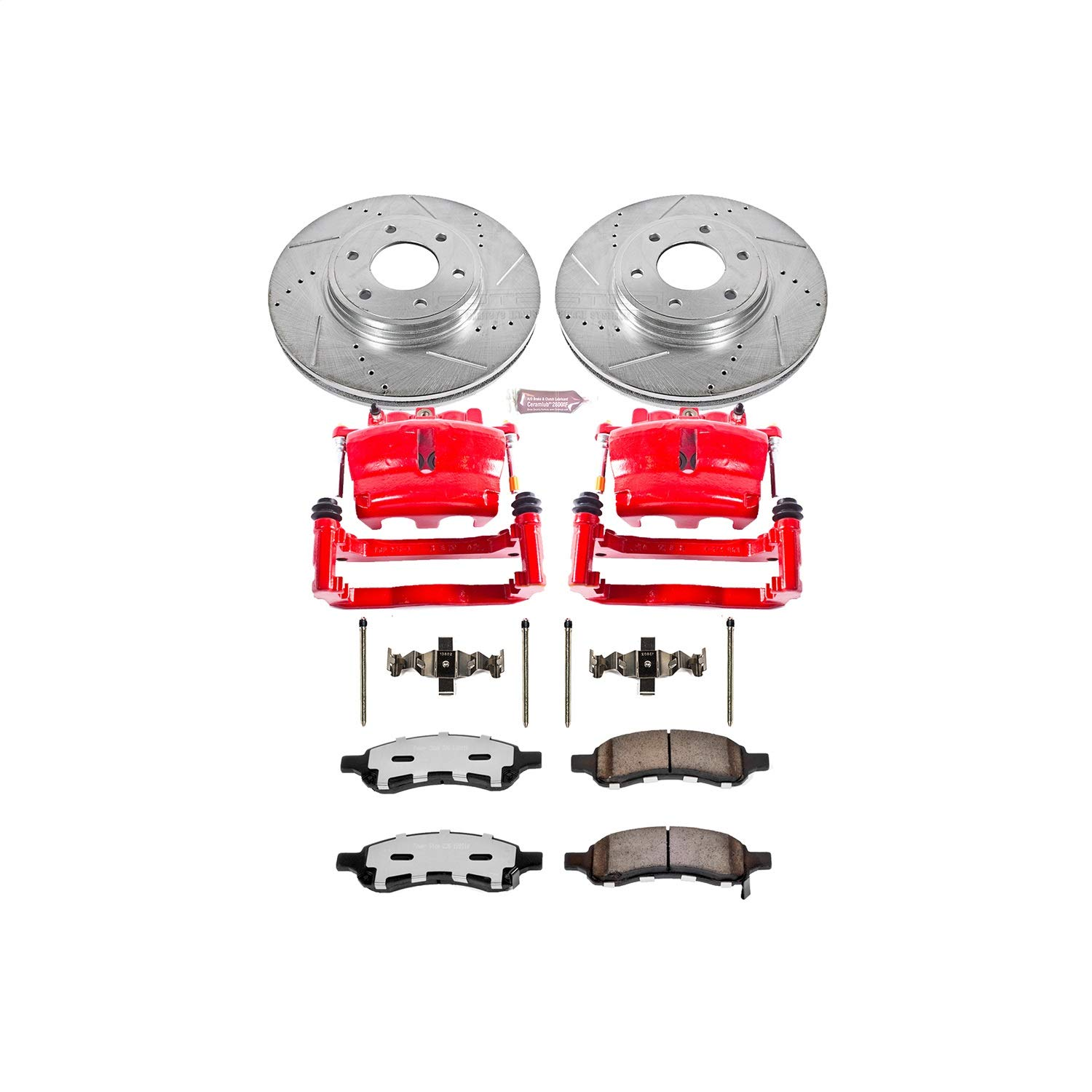 Power Stop KC1453-36 Front Z36 Truck and Tow Brake Kit with Calipers