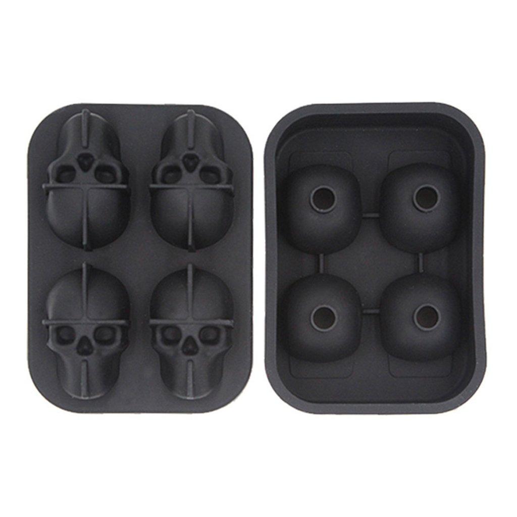 Compra 5 Pack Molde De Cráneo De Silicona 3D Moldes De Cubo De Hielo ...