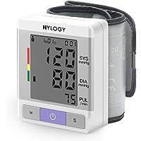HYLOGY Misuratore di Pressione da Polso, Sfigmomanometro da Polso e Pulsazione Rilevazione, Grande Schermo LCD, 180 Posizioni di Memoria