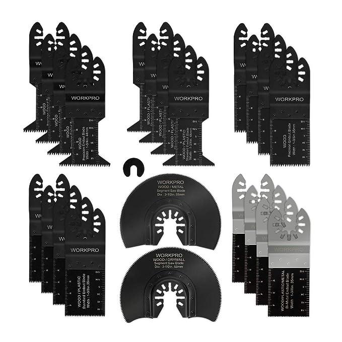 Amazon.com: Juego de cuchillas de sierra oscilantes WORKPRO ...