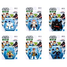Playskool Heroes Star Wars Jedi Force Bundle, Complete Set of 6, includes Darth Vader, Obi-Wan Kenobi, Anakin Skywalker, Commander Cody, Yoda & R2-D2
