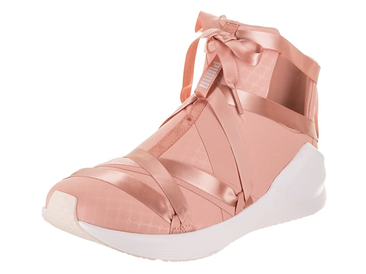 PUMA Women s Fierce Rope Satin High-Top Fabric Fashion Sneaker