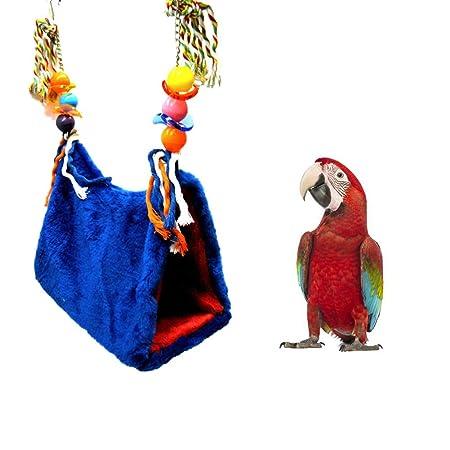 ZFFLYH Oscilación pequeña Mascota Jaula de pájaro de Juguete/Loro ...