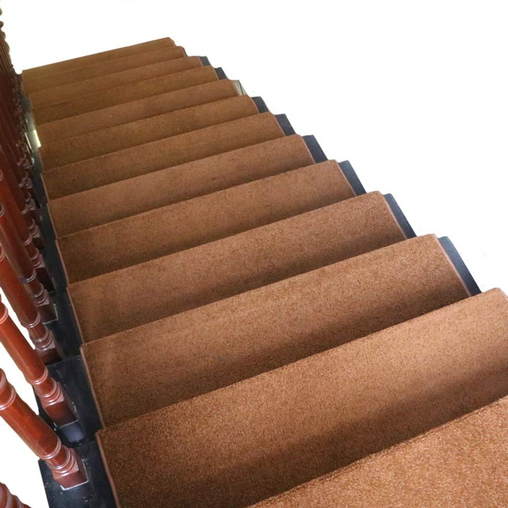 カーペット ステップカーペット屋内用滑り止め洗えるラグ階段トレッド、マジックバックル付きの厚さ11mmの長方形のシングルピースの階段マット (色 : Set of 13, サイズ さいず : 100×24+3cm) 100×24+3cm Set of 13 B07MXNFYZY