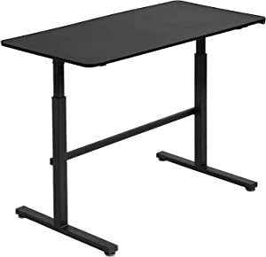 Standing Desk Computer Desk Converter Height Adjustable Desk Computer Workstation Large Desktop Stand Up Desk Ergotron Laptop Sit-Stand Desk Fit Dual Monitor for Home Office Black,47inches