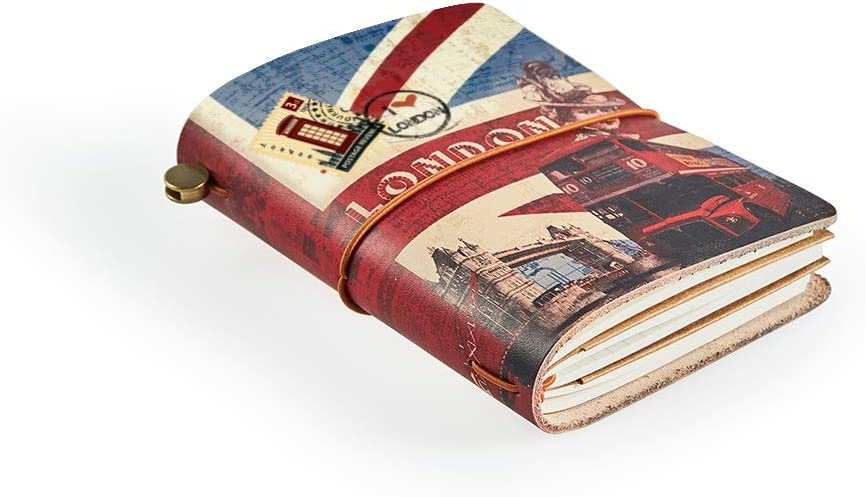 Leather Journal Refillable Travel Journal Best Gift for Travelers 5 /× 4 Inches Perfect to Write in Small Size Easy for Carry Fine Brown Hand Made Leather Daily Notebook for Men /& Women