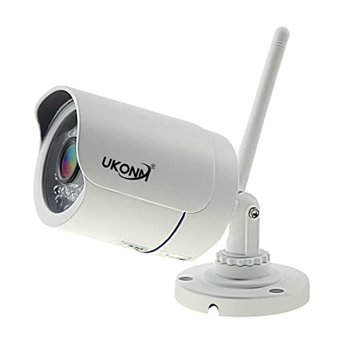 UKonm Wireless Security WiFi HD 720P With SD Card Slot IP66 Waterproof for Home and Outdoor Bullet IP Camera