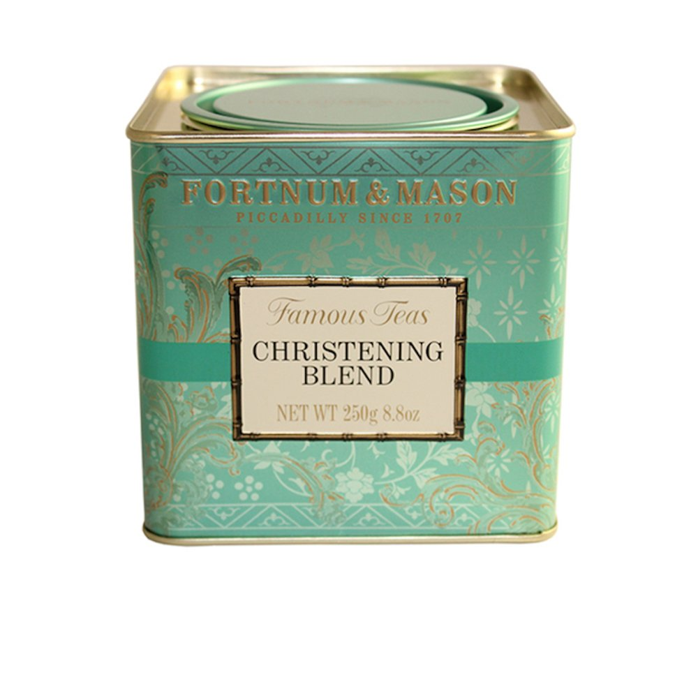 Fortnum & Mason British Tea, Christening Blend, 250g Loose English Tea in a Gift Tin Caddy (1 Pack) - Seller Model Id Lcbsfl098b - USA Stock