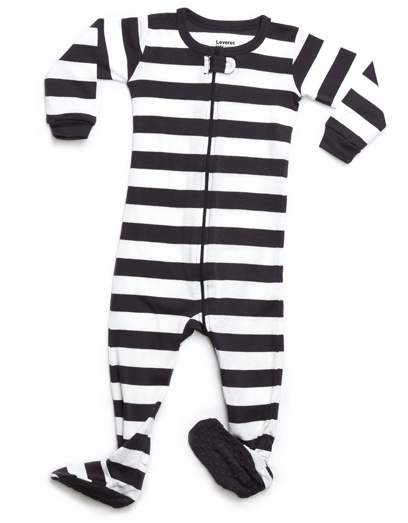Leveret Kids Organic Cotton Charcoal/White Baby