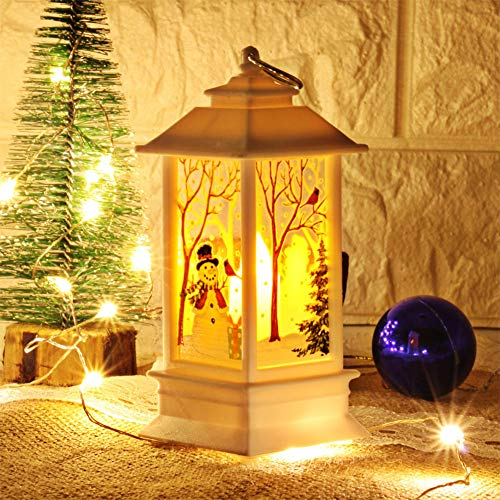 - FairOnly LED Christmas Pattern Candle Light Tea Light Night Lamp for Christmas Home Table Decoration Small White Snowman