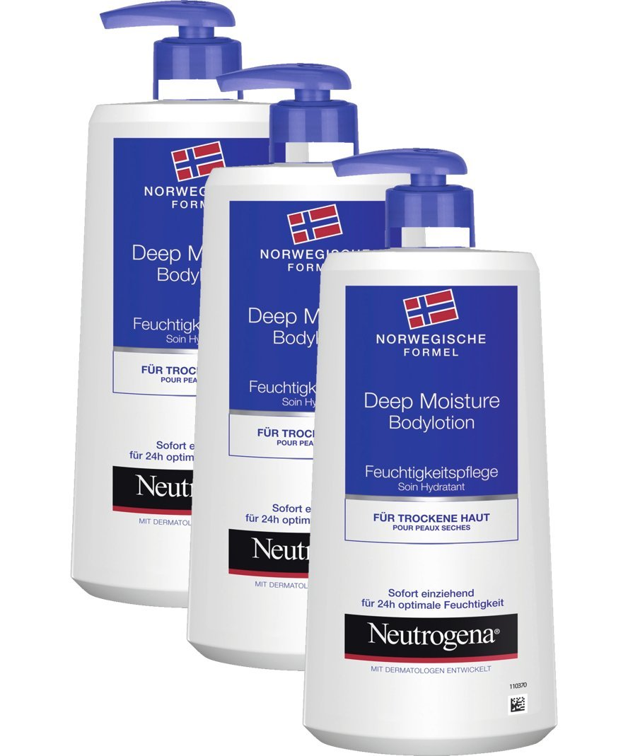 [amazon.de] Neutrogena Deep Moisture Bodylotion – 3 x 400ml za 8,19€
