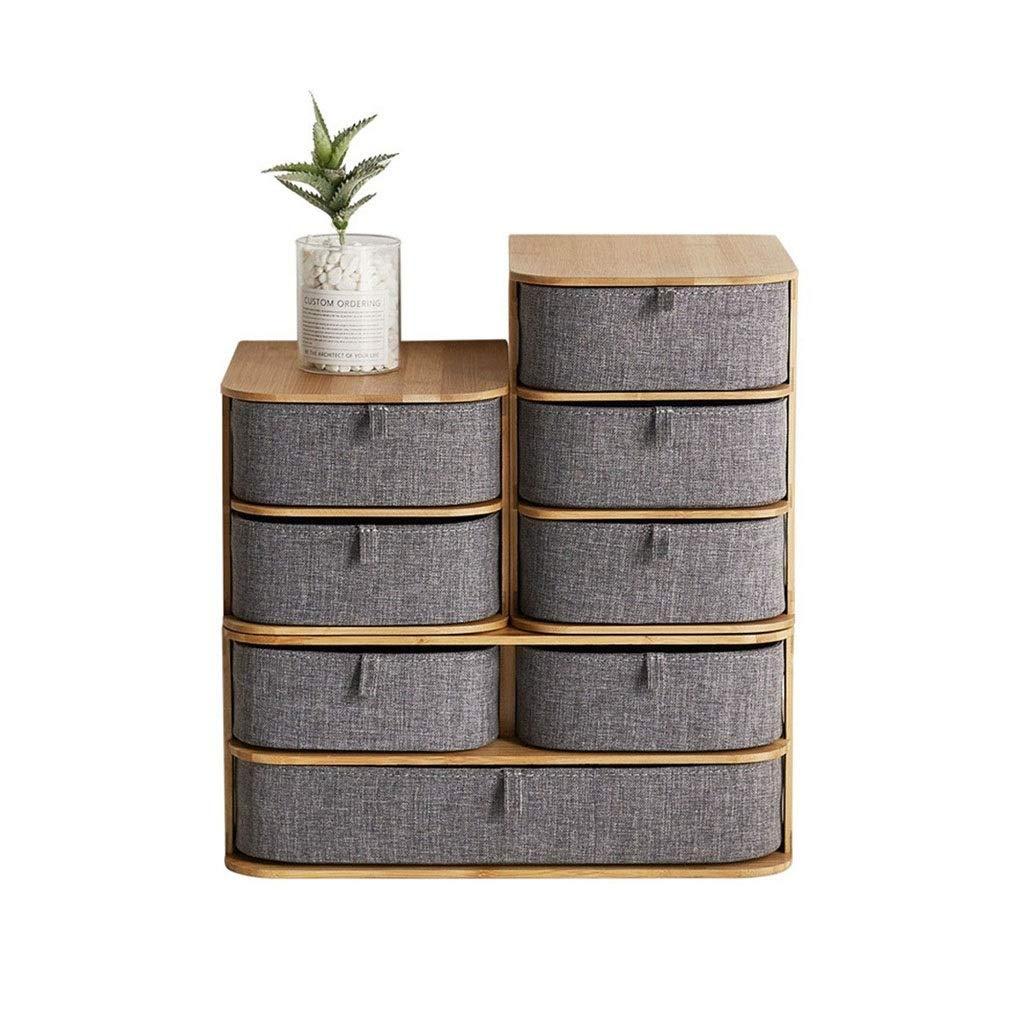 Tmpty Desk Drawer Tidy Organiser,Multi-Functional Desktop Storage Shelf,Bamboo Wood Accessories,Modern Minimalist Design by Tmpty