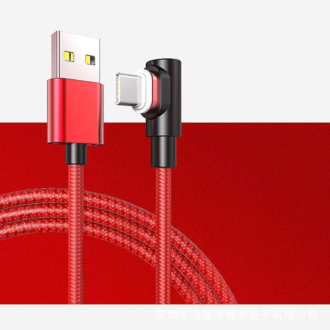 loikero123 Cable de Carga magn/ético de 90 Grados de Tipo Micro USB para Android Cables