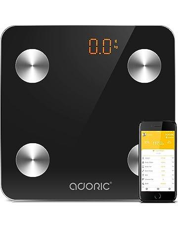 Báscula Grasa Corporal Bluetooth Más de 8 Funciones, Báscula Analógica Monitores de composición corporal Para