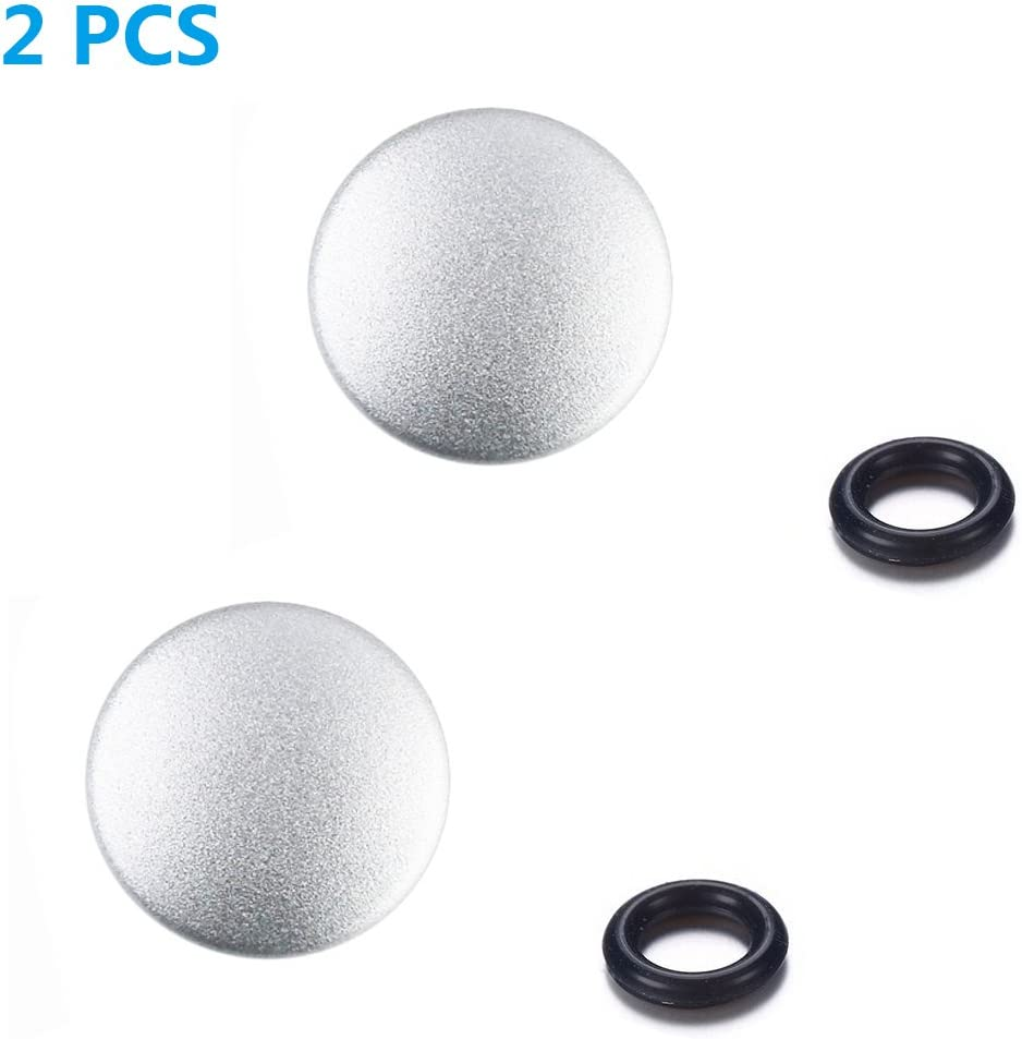 LXH 2 Pack Black Metal Concave and Bulged Surface Camera Soft Shutter Release Button for Fujifilm XT20 X100F X-T2 X100T X-PRO2 X-T10 X-PRO1 X-E2S X100 X100S X10 X20 X30 X-E1 X-E2 STX-2 Olympus OM-1