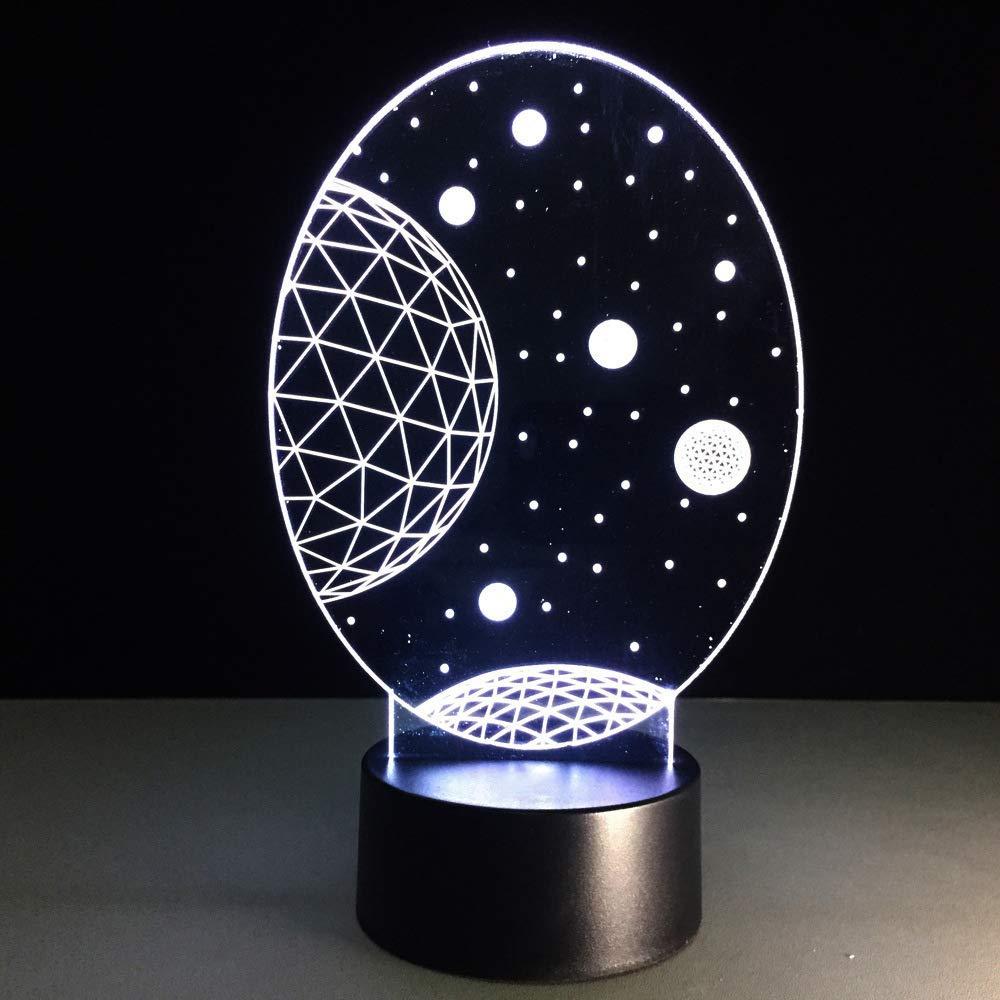 Ydwdled 3D Estrella Lámpara Mesa Escritorio Starry Sky Protector ...