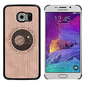 // MECELL CITY PRESENT // Cool Funda Cubierta Madera de cereza Duro PC Teléfono Estuche / Hard Case for Samsung Galaxy S6 EDGE /// Space Agency Jpl Nasa Cosmos ///